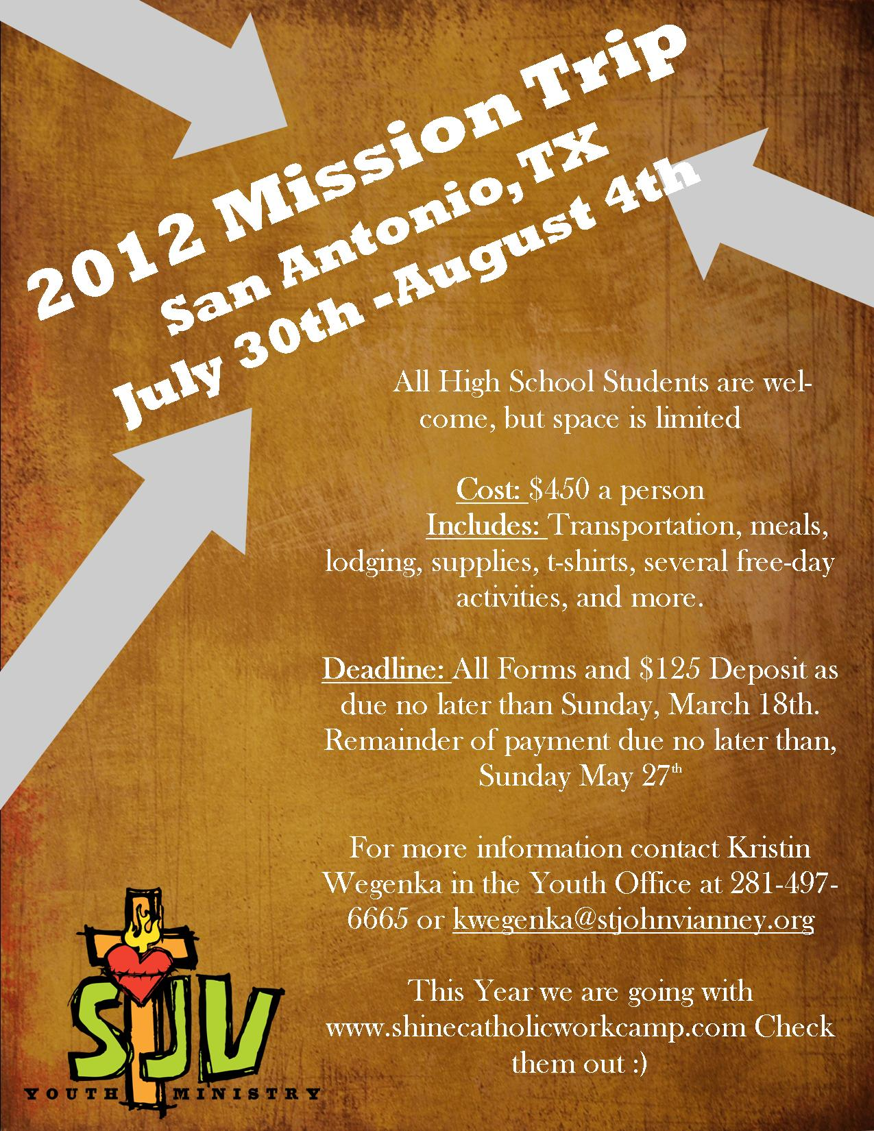 YF-HS-Mission Trip 2012 Flyer